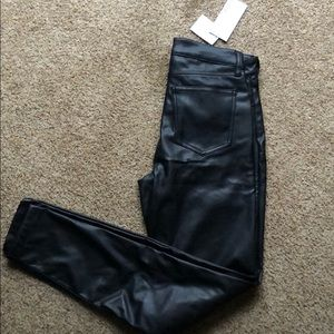 Just fab faux leather pants